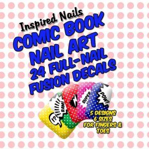 Comic Book Nail Art Decals - Set of 24 in Five Designs from Etsy Seller Inspired Nails ($9.75)
