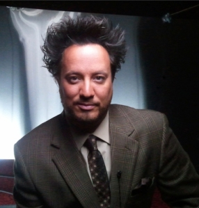 It's hard not to poke fun at Ancient Alien's camp factor.  Check out ancient astronaut theorist Giorgio A. Tsoukalos' hair.  More gel for added credibility.