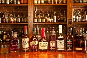 Some common and not-so-common bourbons.