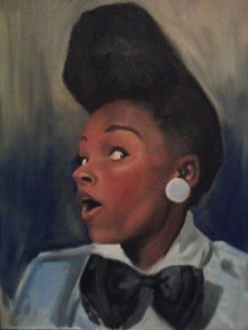 Janelle Monae- classic example of Tomboy Femme style. Portrait by aogwhatisthishith.